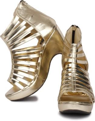 Sapatos Women Gold Wedges