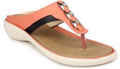 Geetika Women Orange, Beige Flats