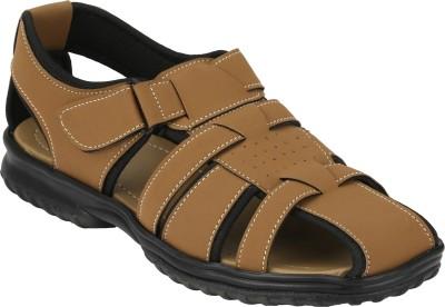 IMCOLUS Men Beige Sandals
