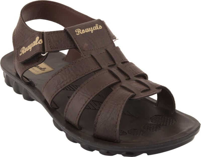 Roayals Men Brown::Beige Sandals