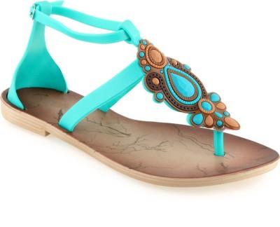 Shoe Lab Women Green Flats