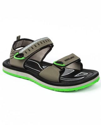 Mmojah Men Grey, Green Sandals
