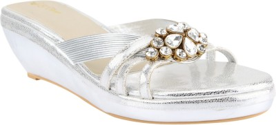 El Cisne Women Silver Wedges