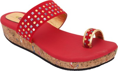 Cute Fashion Women Red Wedges