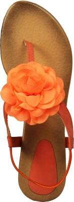Fadubrand Women, Girls Orange Flats