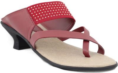 Trendy Enterprises Women Maroon Heels