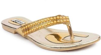 ADDO Women Gold Flats