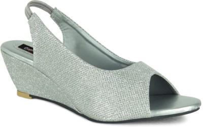 GISOLE Women Silver Wedges