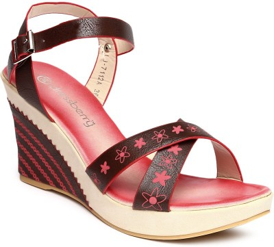 Dressberry Women COFFEE/RED Wedges at flipkart