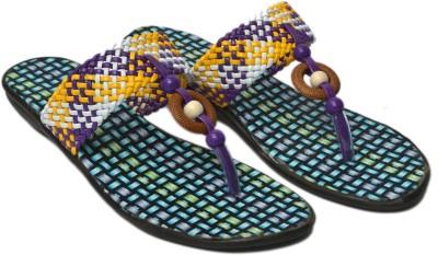 Belle Femme Women Purple, Yellow Flats