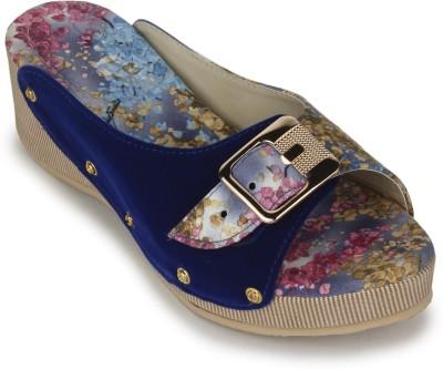 Sapatos Women Blue Wedges