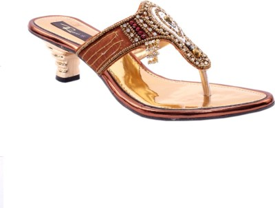Rimezs Women Gold Heels