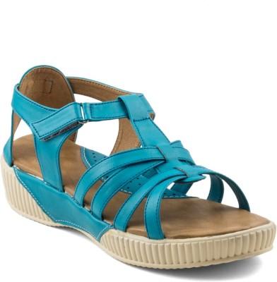Wellworth Women Blue Sports Sandals