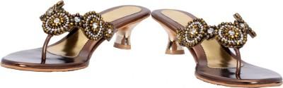 Fcoat Women Brown Heels