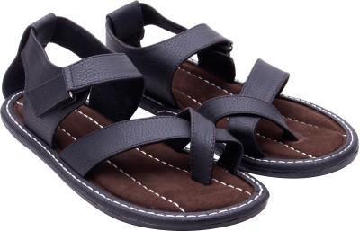 Ridhi Sidhi Black Men Black Sandals