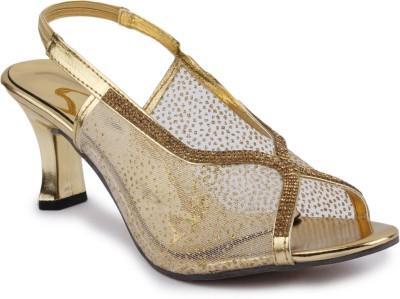 SBF Women Gold Heels