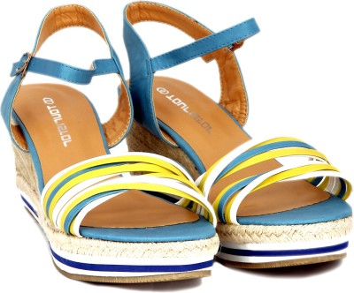 Touristor Nelly Women Blue Wedges