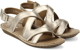 Clarks Women Metallic Leather Sports Sandals