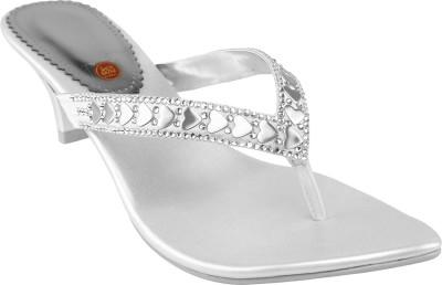 Shoe Bazar Women Silver Heels