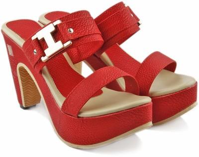 Comfort Women Red, Beige Heels