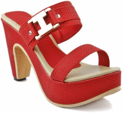 Laila Collection Women Red Heels