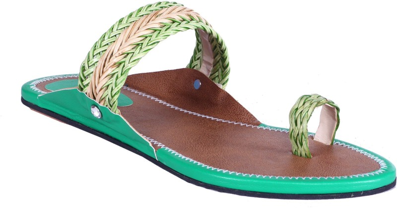 Royal Collection Women Green Sandals