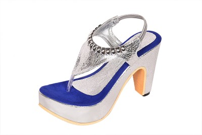 Laila Collection Women Blue Heels