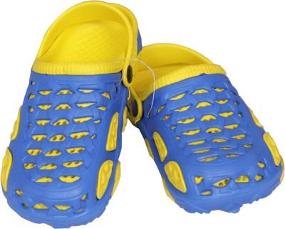 Pu Assma Girls, Boys Blue, Yellow Sandals