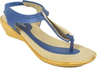 Adjoin Steps Women Blue Wedges