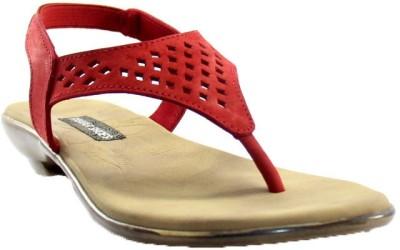 PAWAR Women Red Flats
