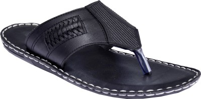 Mr. Polo Men Black Sandals
