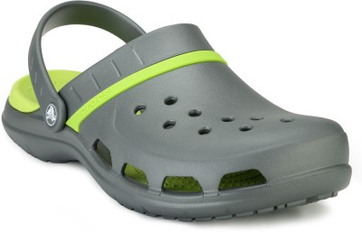 Crocs Men Graphite/Volt Green Clogs