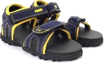Puma Track Jr DP Boys, Girls Black, Blue Sports Sandals