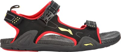Li-Ning Men Black, Red Sandals