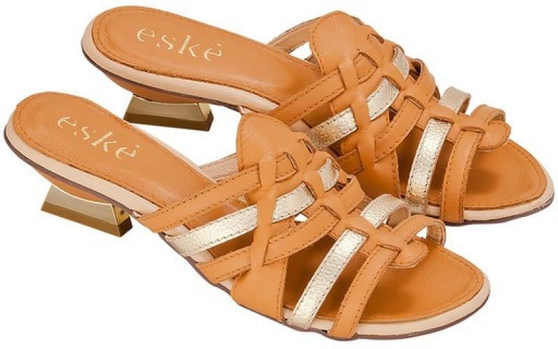 Eske Women Yellow Heels