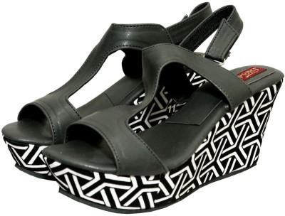 Port Women Black Wedges