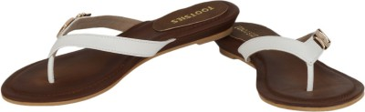 Tootsies Women Brown, White Flats