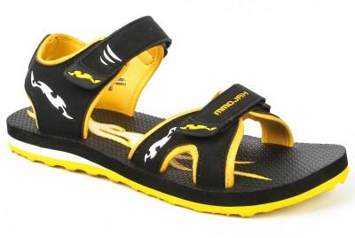 Mmojah Men Black, Yellow Sandals