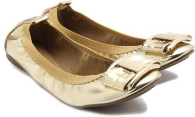 Tresmode Reshine Women Gold Flats
