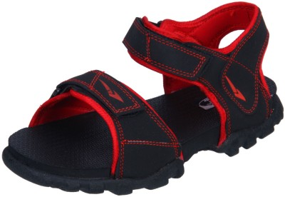 IRUS R-SPORTS Men Black, Red Sandals