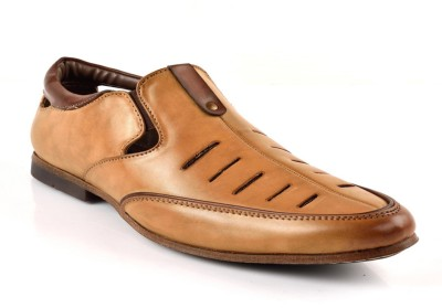 MulMony Men Beige Sandals