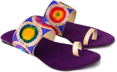 ROCK PASSION Women Purple Flats