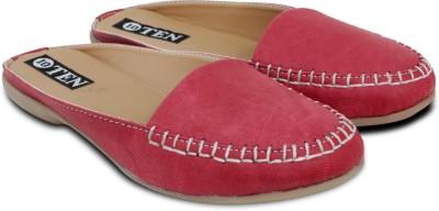 TEN Women Red Flats