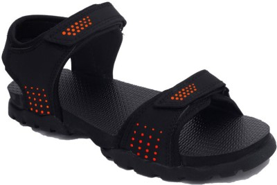 Rod Takes Men Orange, Black Sandals