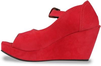 DJH Women Red Wedges