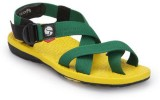 Wave Walk Men Yellow and Green Sandals
