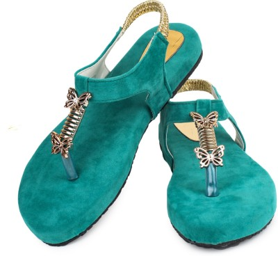 ZAAK Women Green Flats