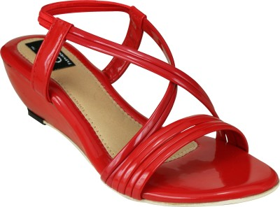 Jayn Martin Women Red Wedges