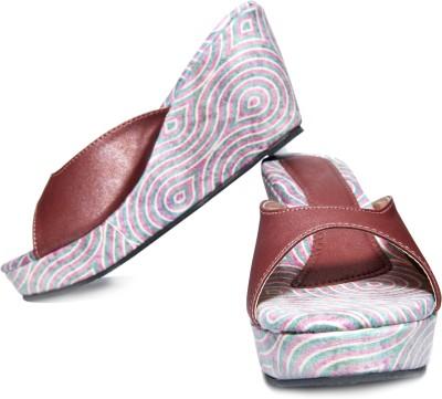 Oh Feet ! Women Pink Wedges