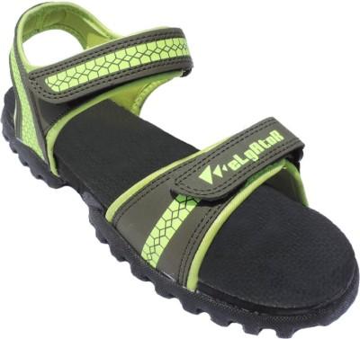 Elligator Boys Black, Green Sandals